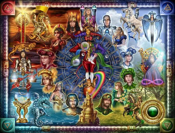 Ciro Marchetti Poster featuring the digital art Tarot Of Dreams by Ciro Marchetti