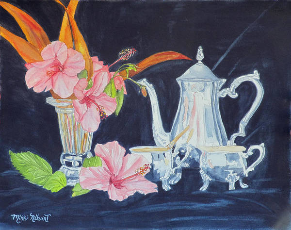 Tea Party Poster featuring the painting Tea Party by Mikki Alhart