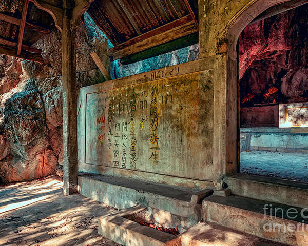 Hdr Poster featuring the photograph Temple Cave by Adrian Evans