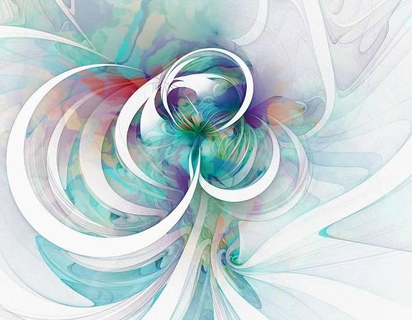 Digital Art Poster featuring the digital art Tendrils 03 by Amanda Moore