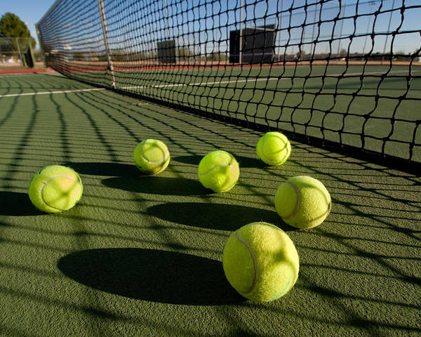Tennis Poster featuring the photograph Tennis Balls And Court by Joe Belanger