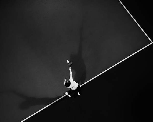 Aerial Poster featuring the photograph Tennis by Rui Caria