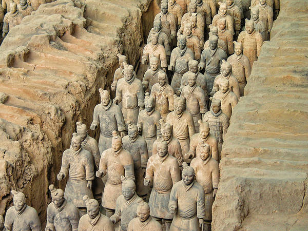 Travel Poster featuring the photograph Terra Cotta Warriors by David Gleeson