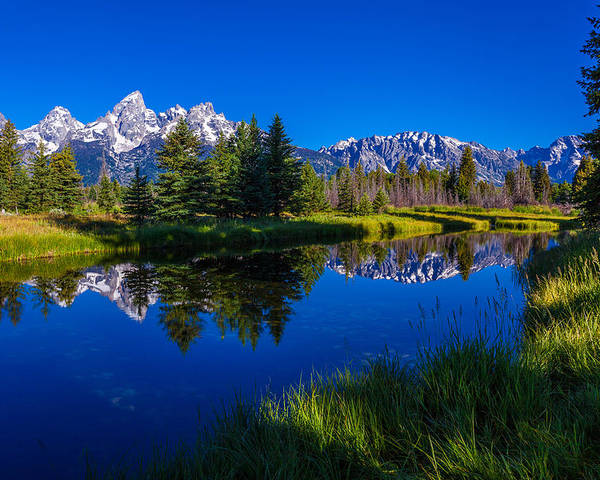 Teton Reflection Poster featuring the photograph Teton Reflection by Chad Dutson
