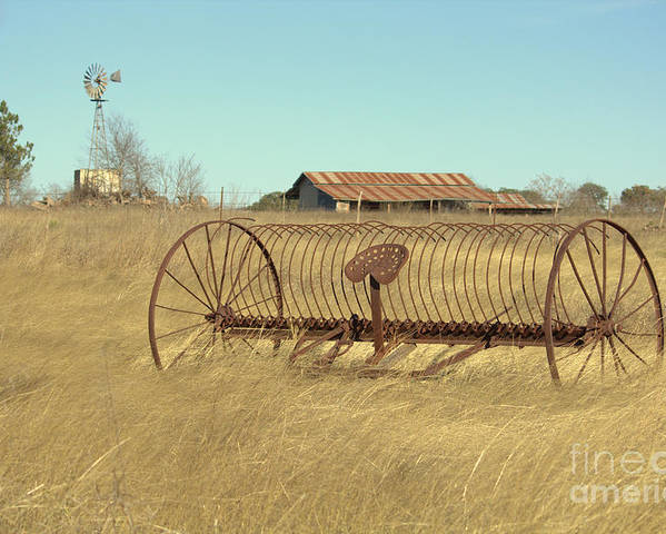 Texas Poster featuring the photograph Texas Hill Country Farmscape by Joe Jake Pratt