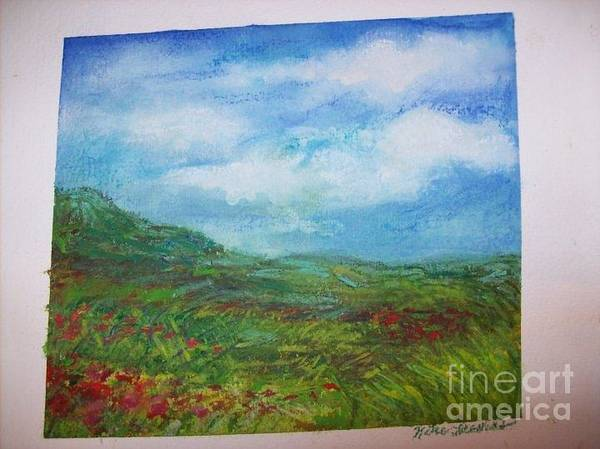 Pastel Poster featuring the pastel The Adirondacks by Katie Thomas