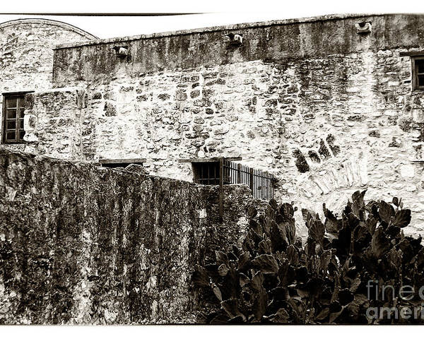 The Alamo Poster featuring the photograph The Alamo by John Rizzuto