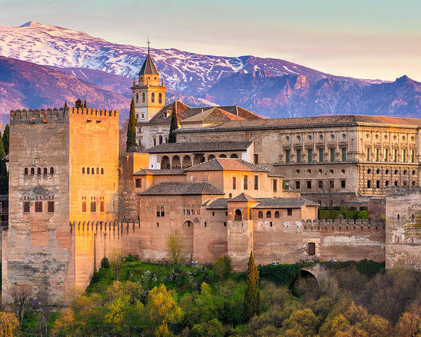 The Alhambra Palace, Granada, Spain Poster
