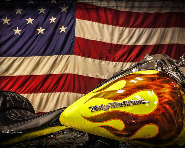 Harley Davidson Poster featuring the photograph The American Ride by Jeff Swanson