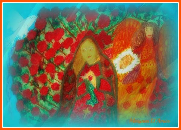 Pastels Poster featuring the photograph The Annunciation by Maryann DAmico
