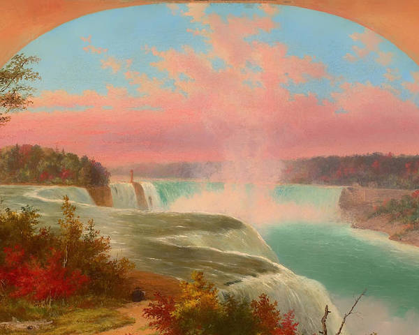 Painting Poster featuring the painting The Artist At Niagara by Mountain Dreams