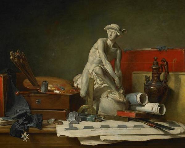 Still Poster featuring the painting The Attributes Of The Arts And The Rewards Which Are Accorded Them by Jean Baptiste Simeon Chardin