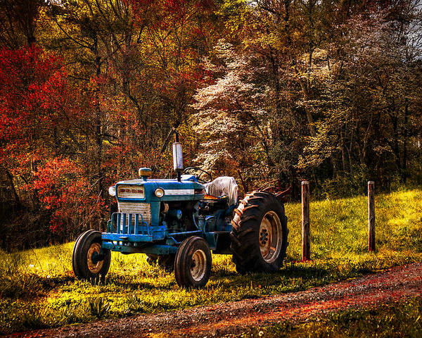 Appalachia Poster featuring the photograph The Autumn Blues by Debra and Dave Vanderlaan