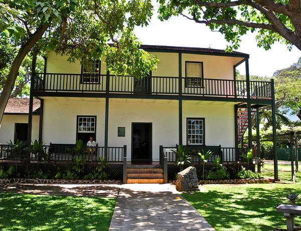 Baldwin Poster featuring the photograph The Baldwin House In Lahaina I by Kirsten Giving