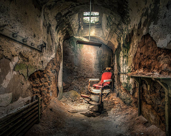 Barber Poster featuring the photograph The Barber's Chair -the Demon Barber by Gary Heller