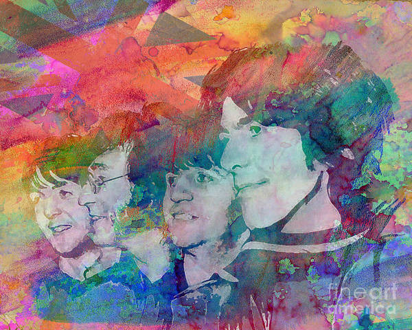 Ar Poster featuring the painting The Beatles Original Painting Print by Ryan Rock Artist