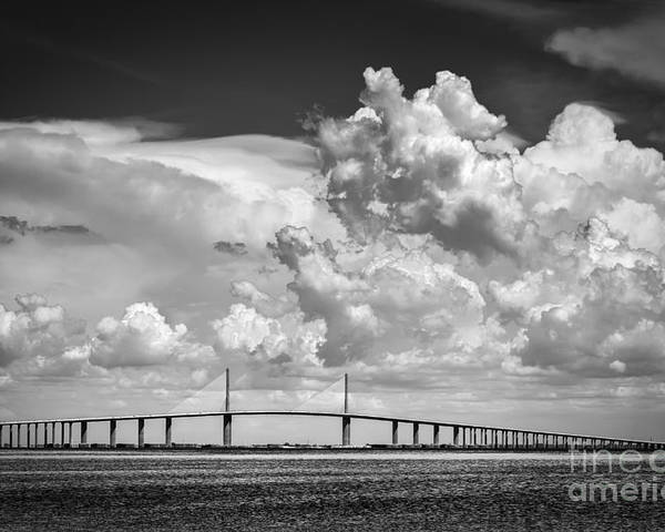Clouds Poster featuring the photograph The Beautiful Skyway by Marvin Spates