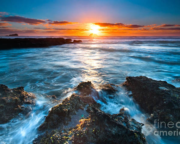 Beautiful Poster featuring the photograph The Beautiful Sunset Beach by Boon Mee