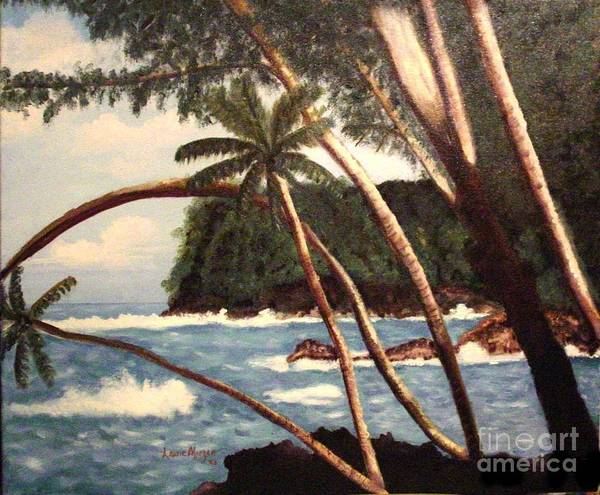 Hawaii Poster featuring the painting The Big Island by Laurie Morgan
