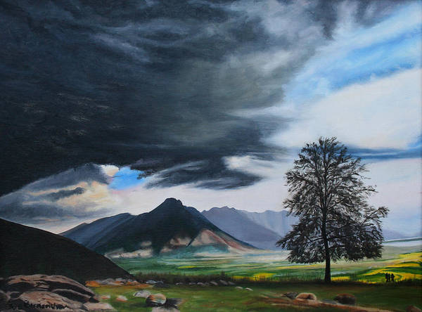 Birkenshaw Poster featuring the painting The Big Storm by Sue Birkenshaw