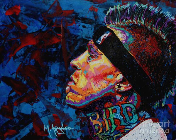 Chris Andersen Poster featuring the painting The Birdman Chris Andersen by Maria Arango