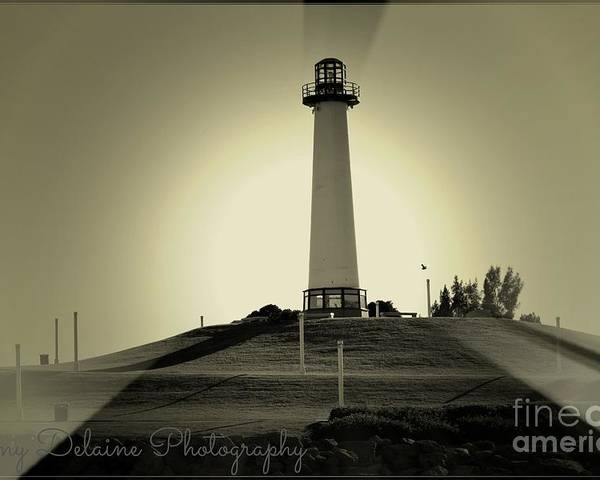 Poster featuring the photograph The Brightly Lit Lighthouse by Amy Delaine