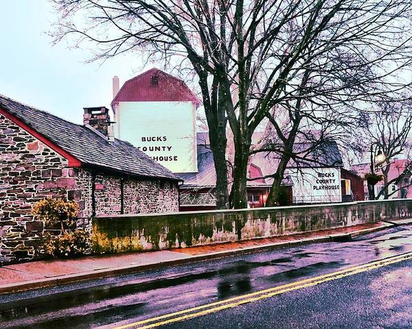Bucks Poster featuring the photograph The Bucks County Playhouse by Bill Cannon