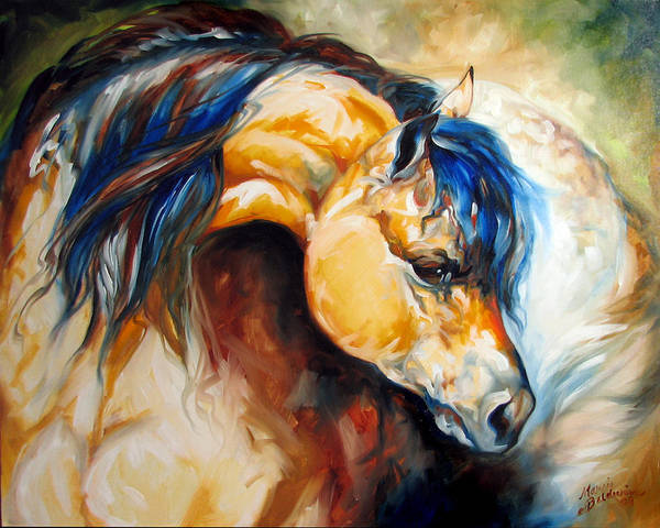 Horse Poster featuring the painting The Buckskin by Marcia Baldwin