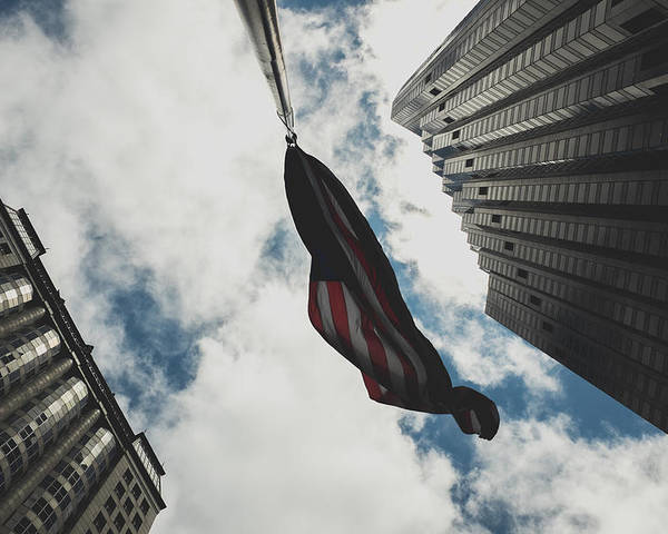 Flag Poster featuring the photograph The Business Of America by Dylan Grant