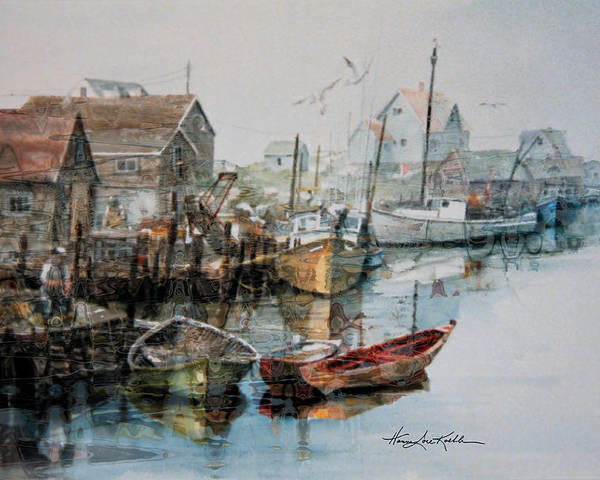 Sailboats Poster featuring the painting The B'y That Catches The Fish by Hanne Lore Koehler