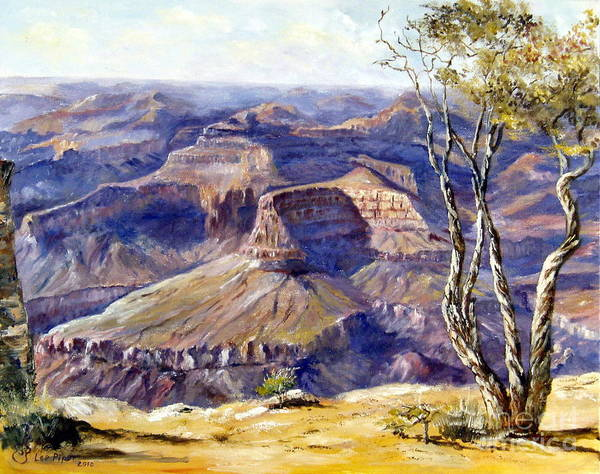 Arizona Poster featuring the painting The Canyon by Lee Piper