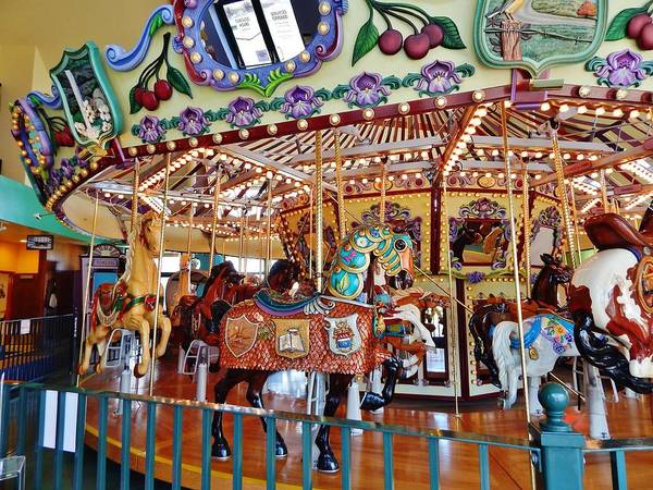 Carousel Poster featuring the photograph The Carousel Ride by VLee Watson