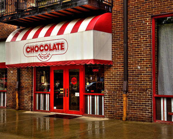 Chocolate Poster featuring the photograph The Chocolate Factory by David Patterson