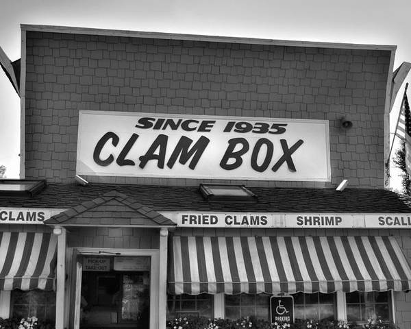Clam Box Poster featuring the photograph The Clam Box by Joann Vitali