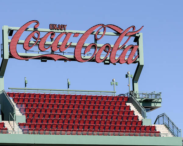 Baseball Poster featuring the photograph The Coca-cola Corner by Susan Candelario