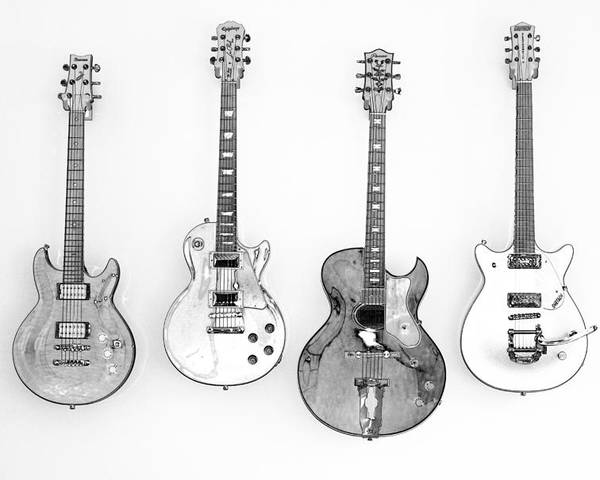 Guitars Poster featuring the photograph The Collection by Karol Livote