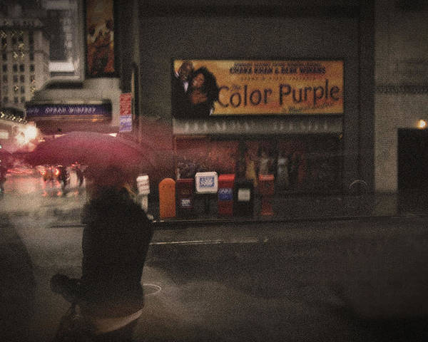 Rain Poster featuring the digital art The Color Purple by Linda Unger