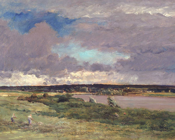 The Coming Storm: Early Spring Poster featuring the painting The Coming Storm by Charles Francois Daubigny
