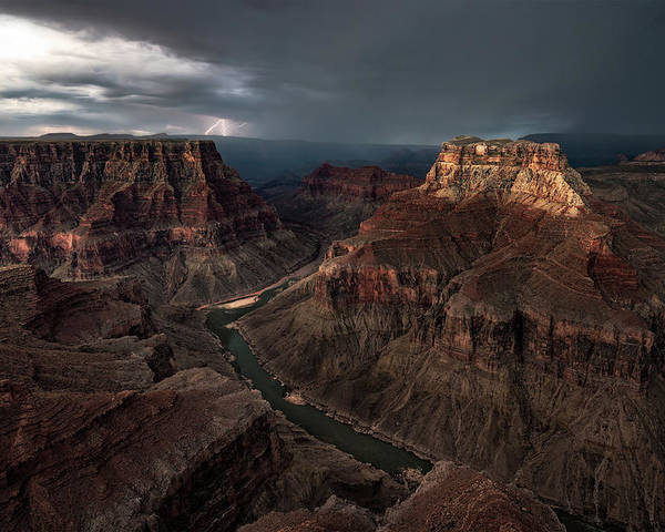 Grand-canyon Poster featuring the photograph The Confluence by John W Dodson