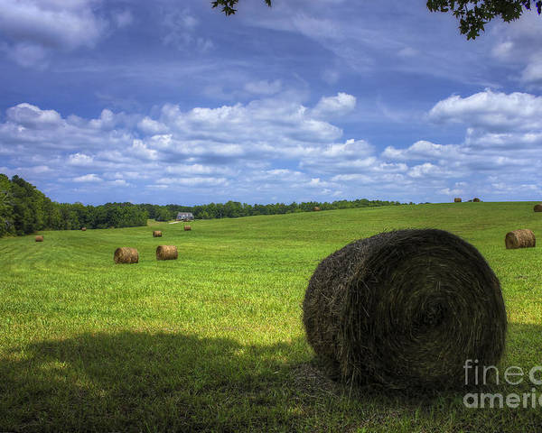Reid Callaway Country House Poster featuring the photograph The Country House Hayfield by Reid Callaway