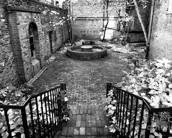 The Courtyard At The Old North Church Poster featuring the photograph The Courtyard At The Old North Church by John Rizzuto