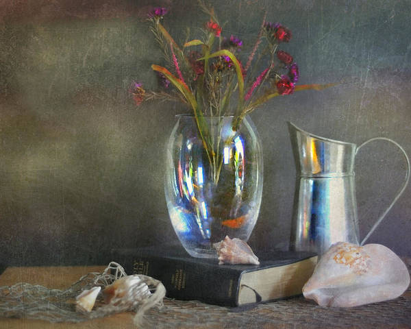 Still Life Poster featuring the photograph The Crystal Vase by Diana Angstadt