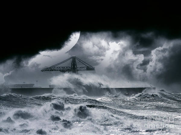 The Dark Poster featuring the photograph The Dark Storm by Boon Mee