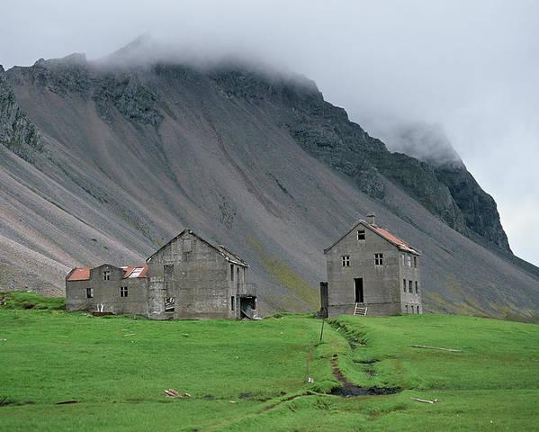 Deserted Farm Poster featuring the photograph The Deserted Farm Horn In Iceland by Birgir Freyr Birgisson