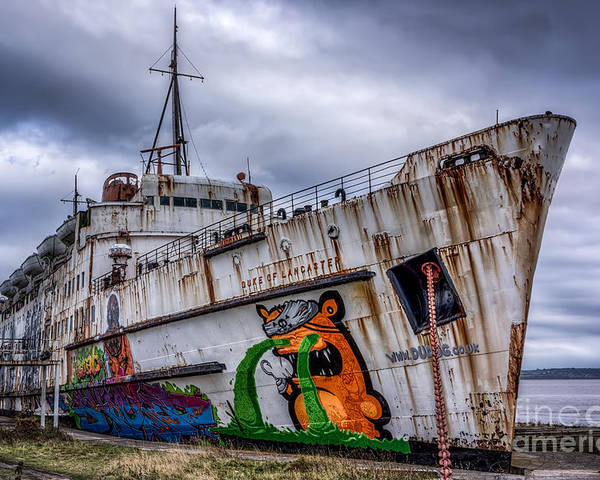 Abandoned Poster featuring the photograph The Duke Of Lancaster by Adrian Evans