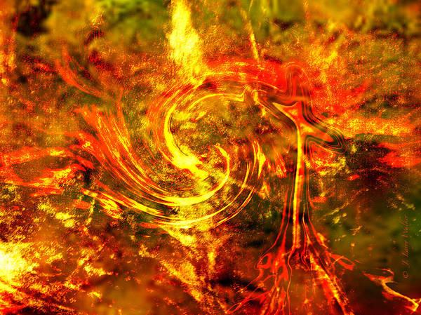 J Larry Walker Poster featuring the digital art The End - 12/21/2012 - Horrific Hallucination by J Larry Walker