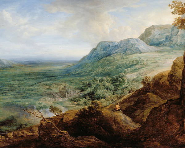 Landscape Poster featuring the painting The Escorial, From A Foothill by Lucas van Uden