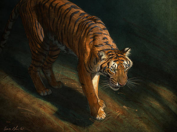 Tiger Poster featuring the digital art The Eye of the Tiger by Aaron Blaise