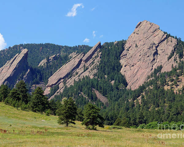 Colorado Poster featuring the photograph The Flatirons by Bob Hislop