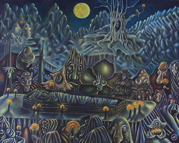 Surreal Poster featuring the painting The Forest Funeral by Brandt Parker